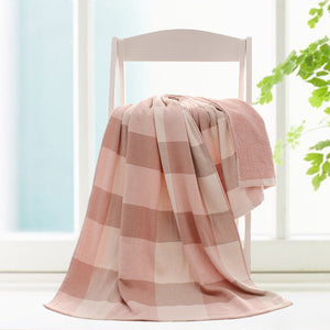 Cotton Thick Plaid Beach Bath Towels Pink Beach towel Toalla playa Fouta towels Scarf Turkish Bath towel for Kids Adult 70x140cm