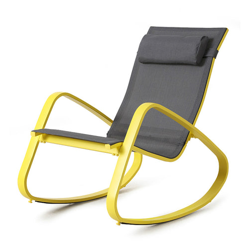 Fashion High Quality Outdoor Balcony Chair Sun Lounger Rocking Chair Soft Lazy Leisure Comfortable Chair Household Furniture