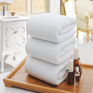 Solid White Large Bath Towel High Quality Thickening 100% Cotton Hotel Adult Towels Soft Comfortable Water Absorption Face Towel