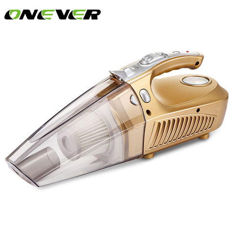 Onever 12v car air compressor tyre inflator infaltion pump 120W handheld car vacuum cleaner auto portable dust brush for car