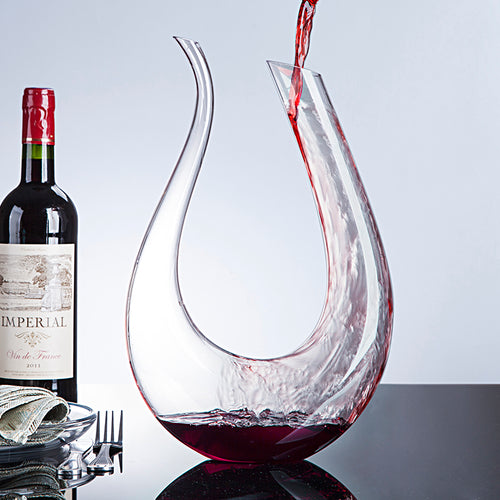 Handmade Crystal Red Wine Glass Decanter Brandy Decant Set Jug Bar Champagne Water Bottle Drinking Glasses Gift 1500ml