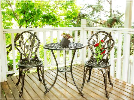 Outdoor tables and chairs combination of a table two chairs cast aluminum balcony tables and chairs villas garden leisure tables