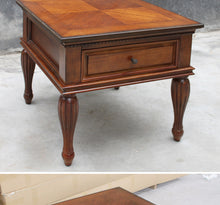 wooden side table American style sofa side table European style small coffee table