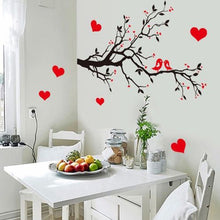 2017 New Love birds Branch Removable Mural wall sticker Wall Decal Room home decoration accessories adesivo de parede stickers