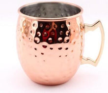 Roral Russian 1 pcs Retro Copper Colored Moscow Mule Mug 550ml Vodka Beer Cup Tumbler Liquor Copper Mug
