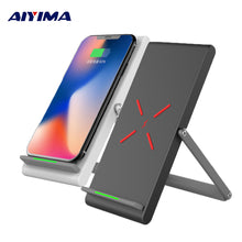 Aiyima 10W Qi Wireless Charger For iPhone X 8 Plus Fast Charger Samsung S8 Plus S7 S6 edge Note 8 Phone Charging Holder