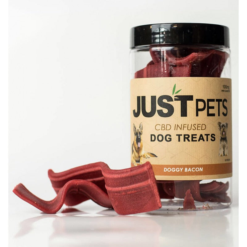 Just Pets CBD Bacon Strips Dog Treats 100mg