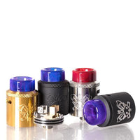 HELLVAPE DEAD RABBIT SQ 22MM RDA WITH ASSORTED COLOR RESIN TIP