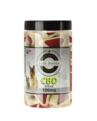 Just Pets CBD Steak Dog Treats 100mg