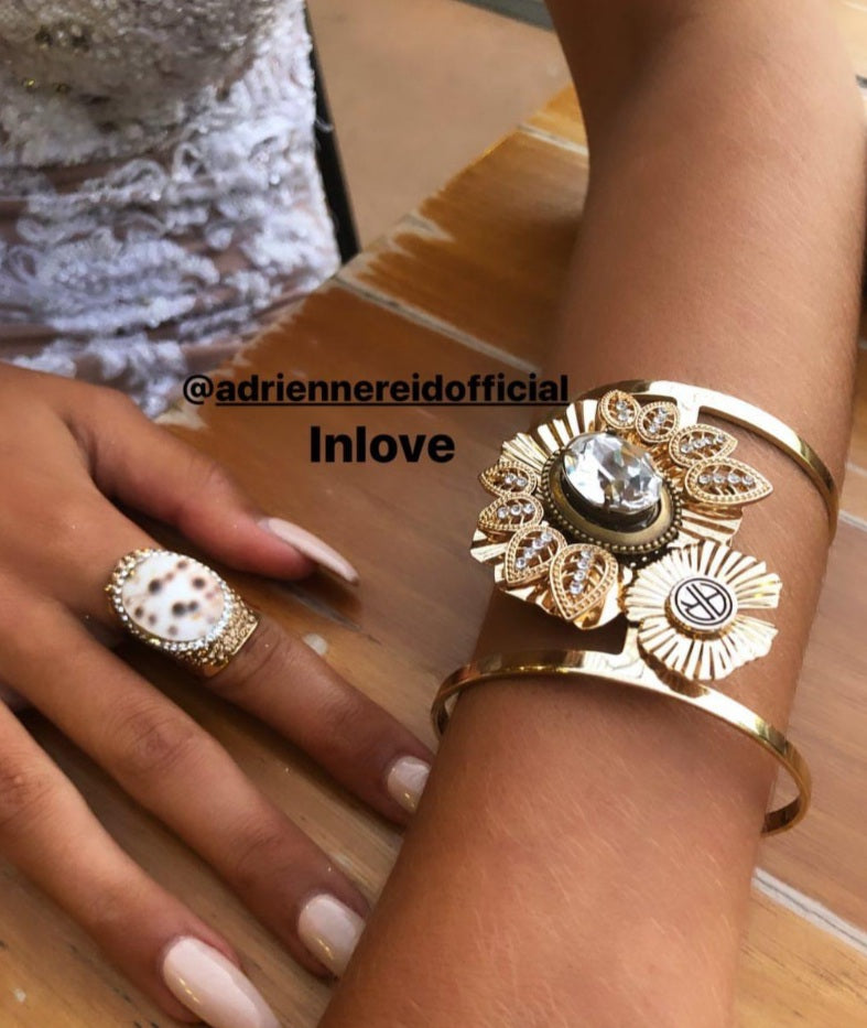 DIAMOND EYES CUFF - GOLD | ADRIENNE REID