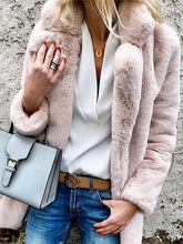 Pure Color Lapel Long-Sleeved Coat