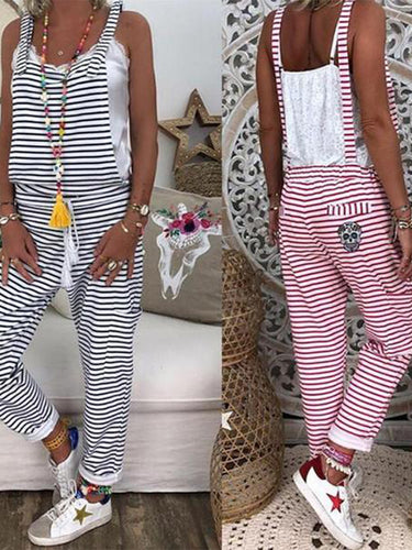 Casual Striped Wild Jumpsuit