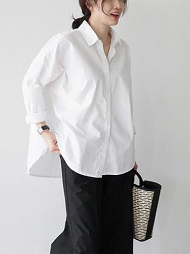 Fashion Temperament   Pure Color Shirt