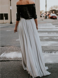 Pure Color Fashion Full Length Skirt