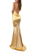 Sexy Elegant Backless Fishtail Evening Maxi Dress
