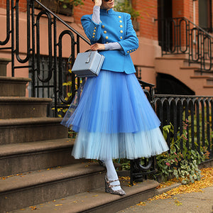 Fashion Gradient Organza Skirt