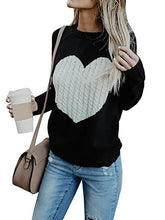 Round Neck Love Printed Fashion Knitting Sweater