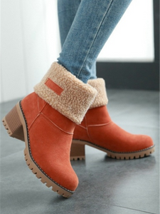 92af2bc96e1 Winter Thickened And Thick-Bottomed Lamb Wool Boots