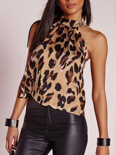 Sexy Halter Leopard Printed Fashion Camis