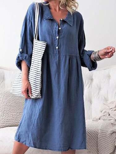 A Casual Long-Sleeved Shirt Casual Dress