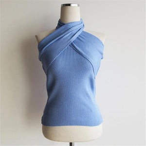 Women's Casual   Backless Knit Top
