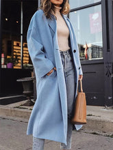 """Elegant Solid Color Two Button Coat """