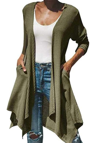 Long-sleeved irregular cardigan jacket