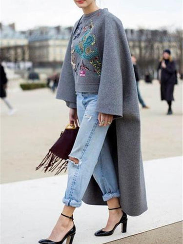 Autumn and winter   fashion prints irregular warm sweatshirt