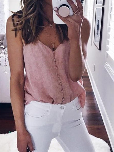 Sexy V Neck Front Buckle Sling