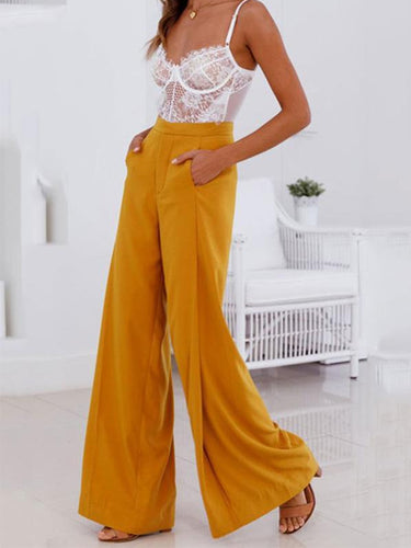 Comfortable High Waist Wide Legs Leisure Pants