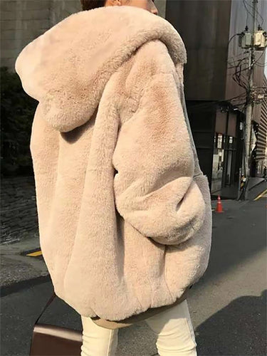 Fashion Pure-color Fur Coat