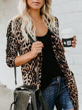 Fashion Leopard Print Long Sleeve Cardigans
