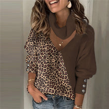 Casual Long Sleeve Patchwork Sweater