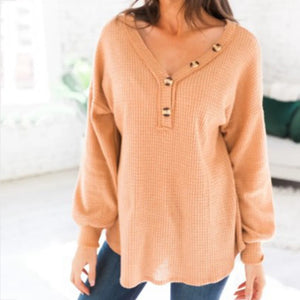 Women's Casual Solid Long Sleeve T-Shirt Tops
