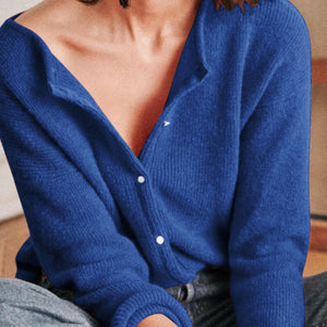 Casual Solid Color Round Neck Front And Rear Wear Sweater