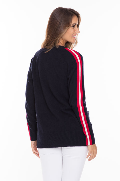 Navy/Ivory/Red