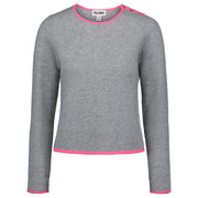 Light Grey/Neon Pink