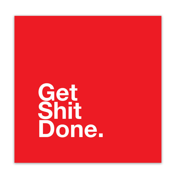 "CUADRO ""GET SHIT DONE RED"""