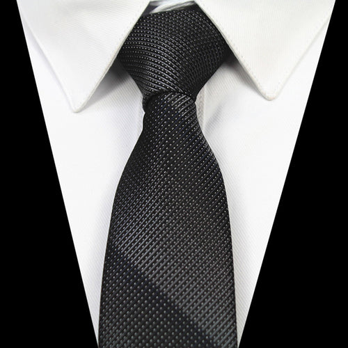 Monochromatic Stripe Slim Tie