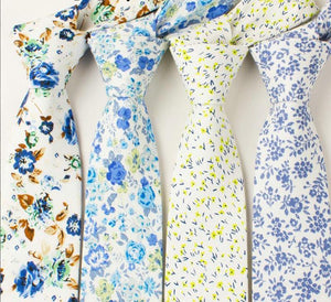Fun & Casual Floral Slim Tie