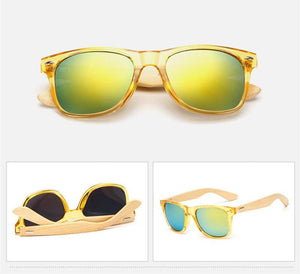 Natural Bamboo Wayfarer Sunglasses