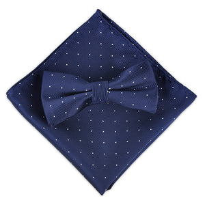 Polka Dot Bow & Pocket Square Set