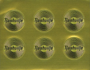 Gold Record Sticker Sheet of 6