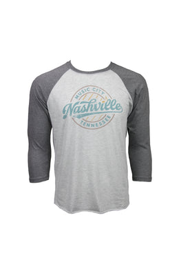 Nashville Six Strings Baseball Tee
