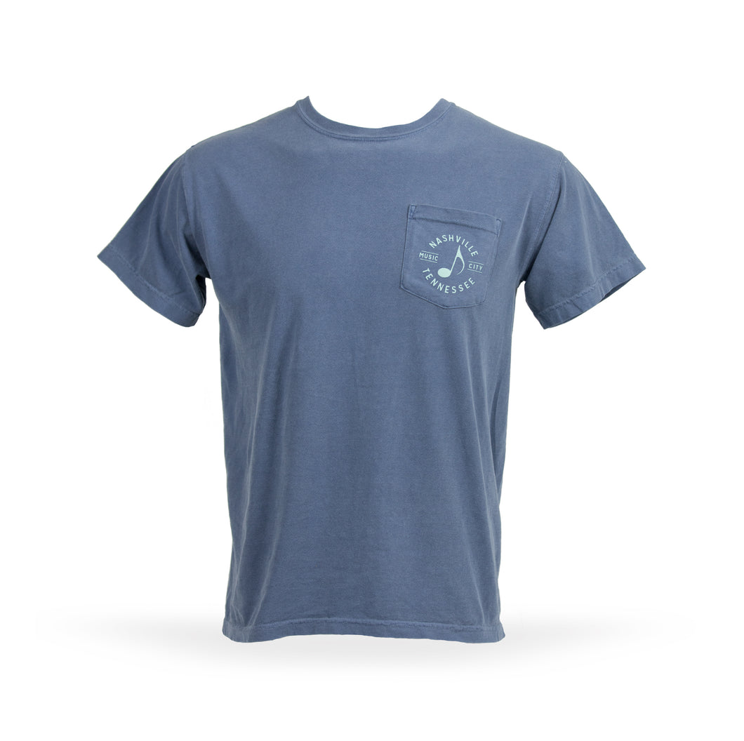 Nashville Music City Simple Pocket Tee