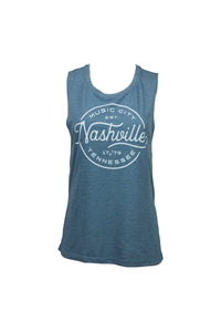 Ladies Nashville Music City Muscle Tank