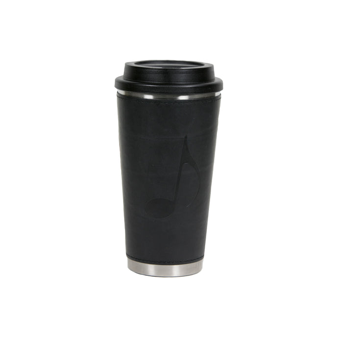 Music Note Stainless Steel Leather Tumbler - 11430