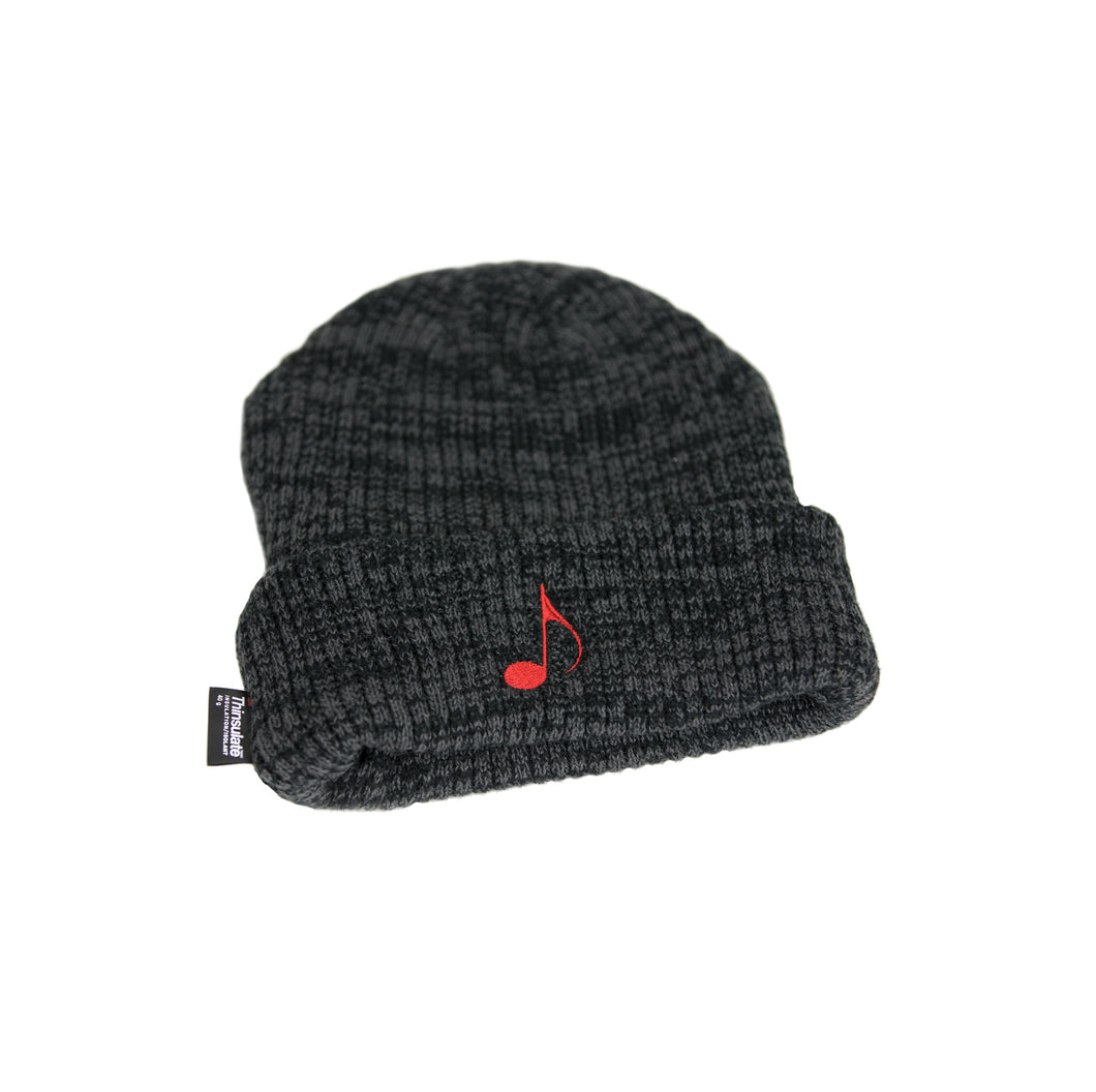 Charcoal Music Note Beanie