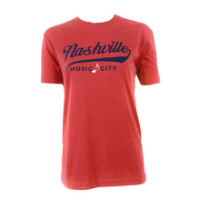 Red Nashville MC Adult Tee
