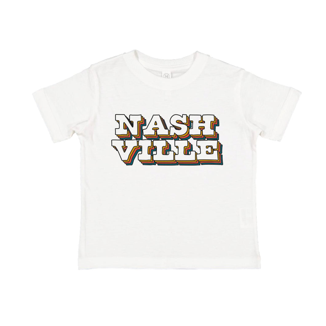 White Nashville Toddler Tee